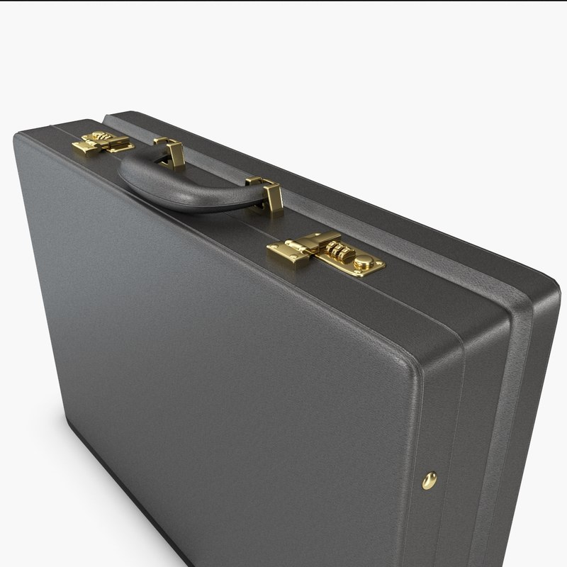 3d model business suitcase