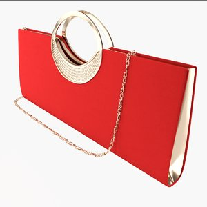 3d model evening handbag