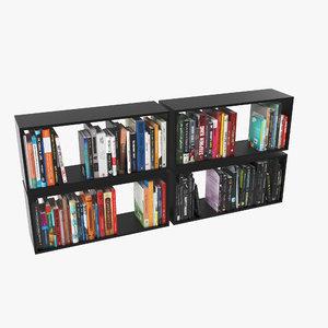 100 modern books 3d max