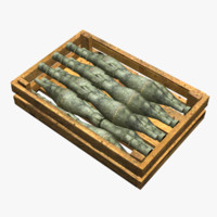 Wooden Box With Ammo