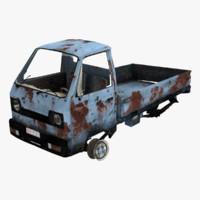 truck car old 3d model