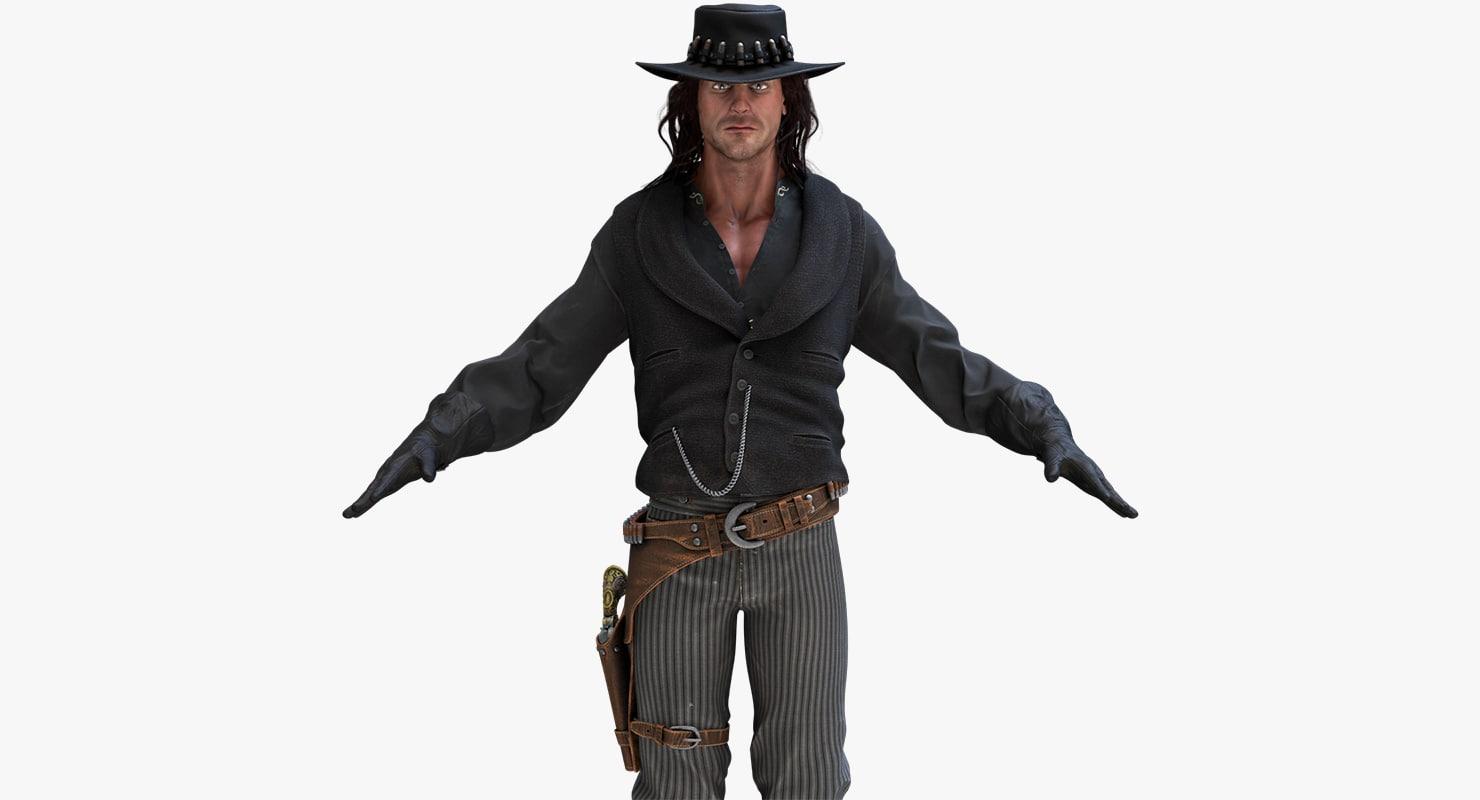 cowboy marmoset toolbag 3d model