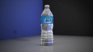 nestle water bottle 3d x