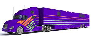 3d semi truck model