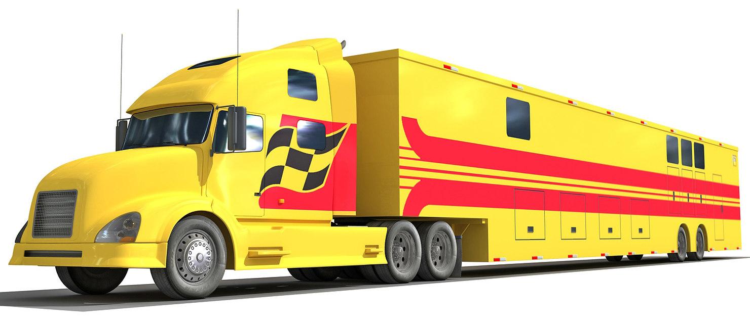 3d race car truck