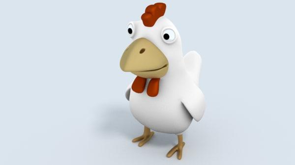 3d cartoon hen
