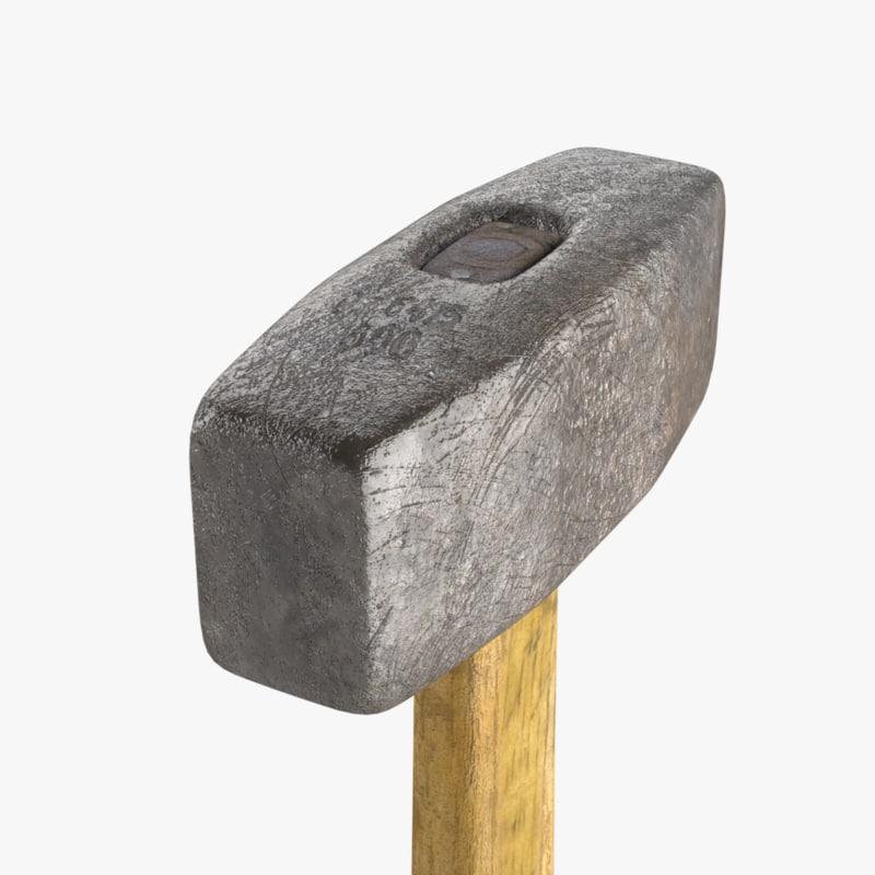 hammer real-time 3d model