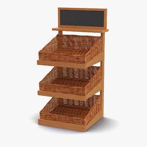 bakery display shelves 4 3d model