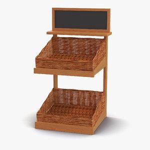 bakery display shelves 5 c4d