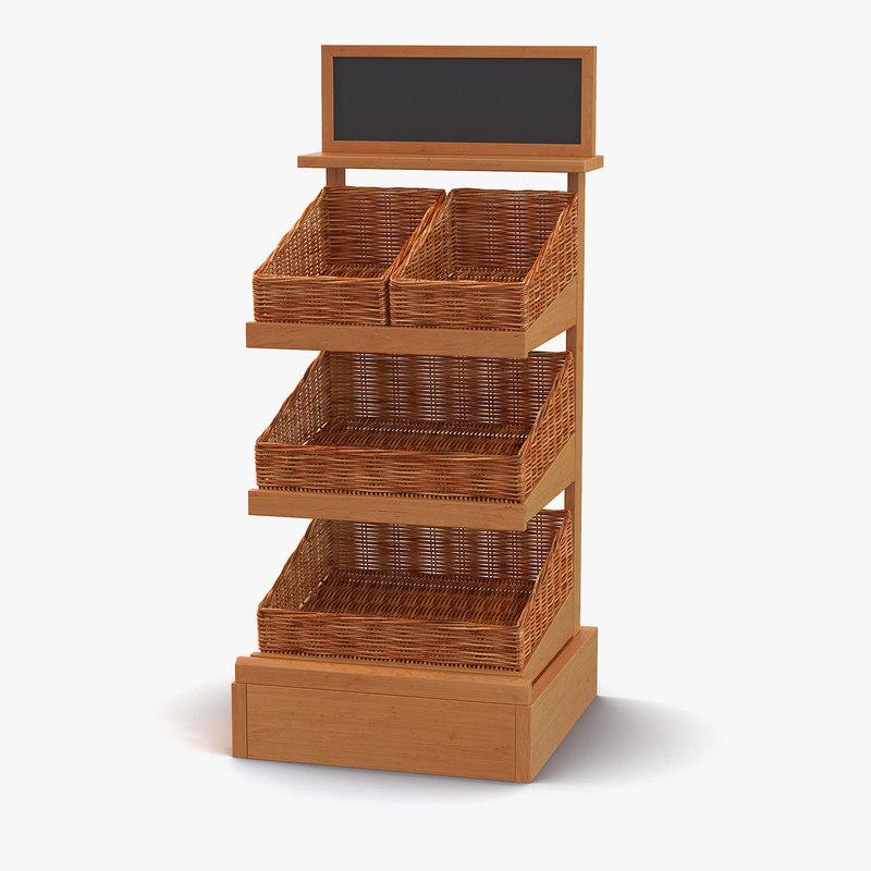 bakery display shelves 2 3ds