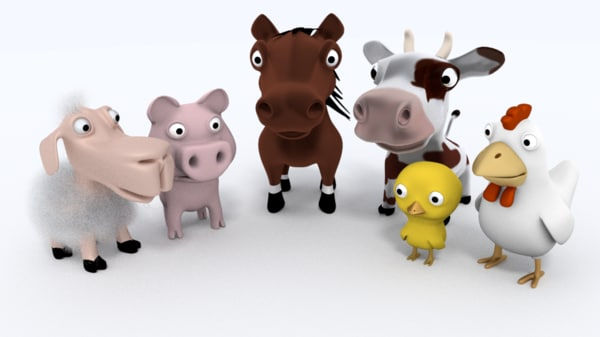 3d farm animals model