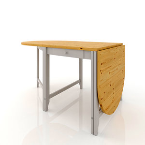 ikea gamlebi folding table 3d max