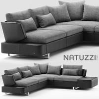 modular natuzzi opus 3d model