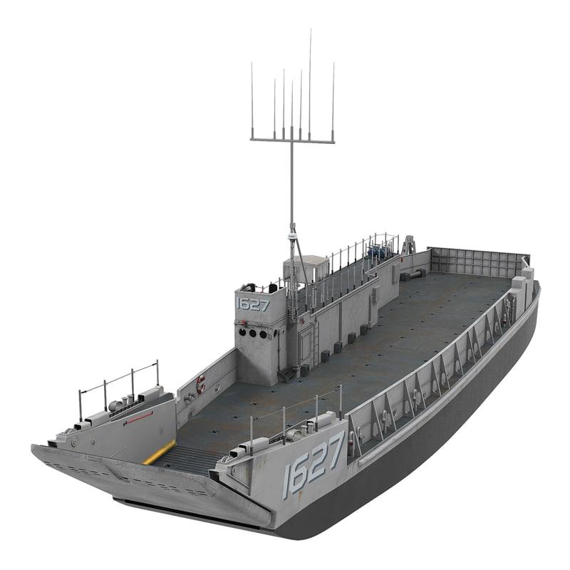 3d model landing craft utility class