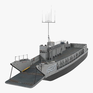 landing craft utility class 3d max