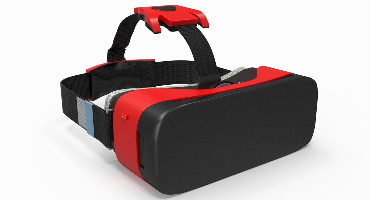 3d model of generic vr goggles