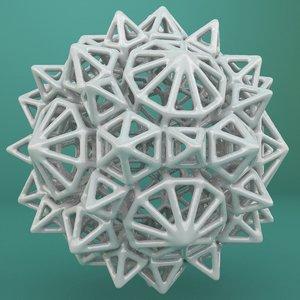 geometric shape 3d x