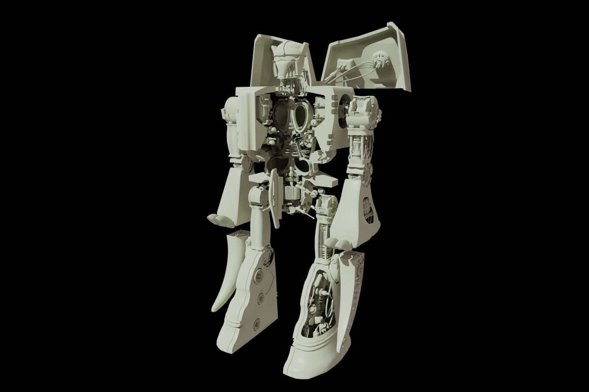 3d model robot dinosaur