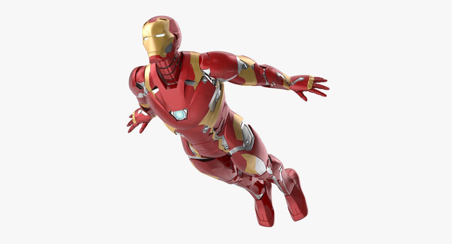 3d iron man mark 46 model