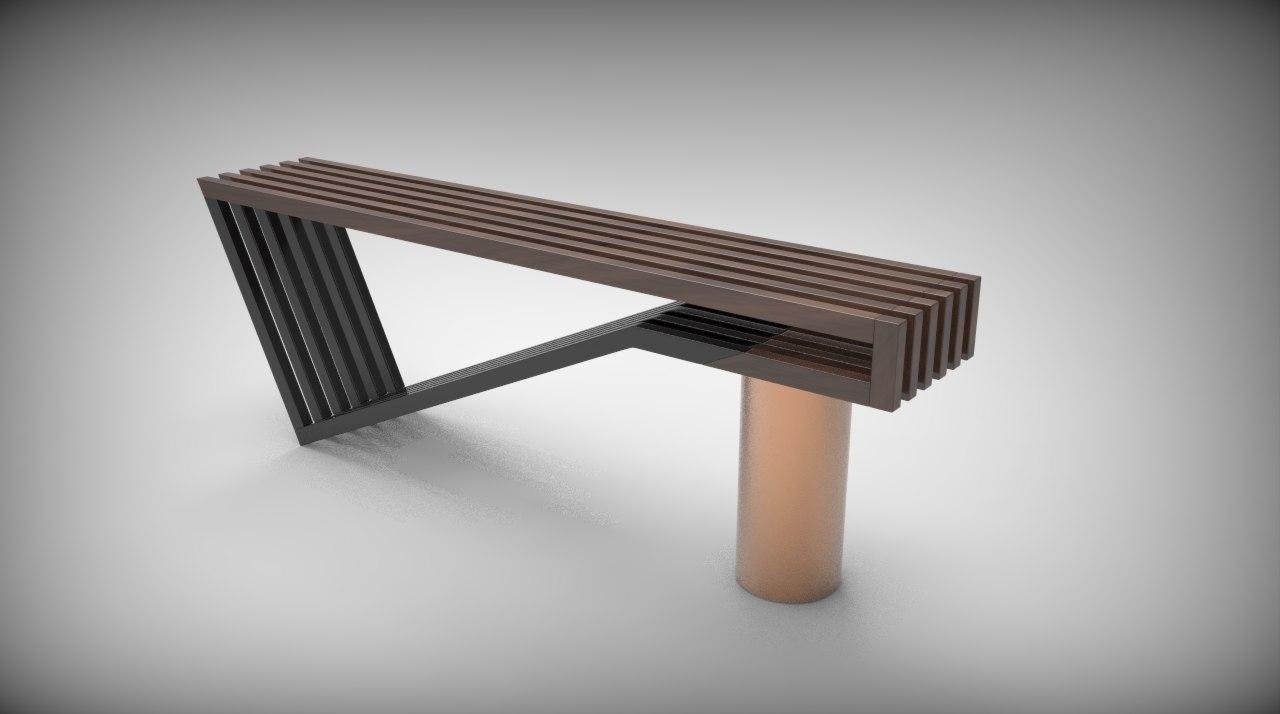 . Modern Bench