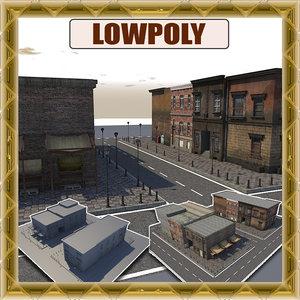 3d model street scene