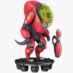 3d model sci-fi creature