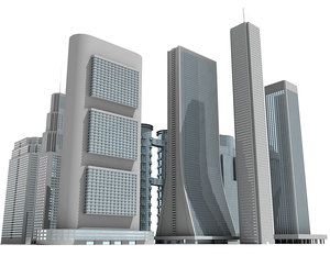 3d model 12 skyscrapers