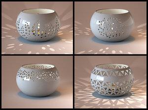 3d ceramic bowl tealight model