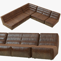 3d restoration hardware chelsea leather
