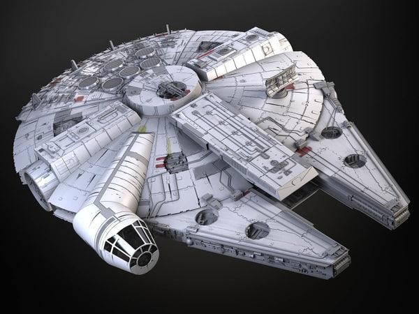 3d model falcon interior