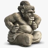 statue bali guard 3 c4d