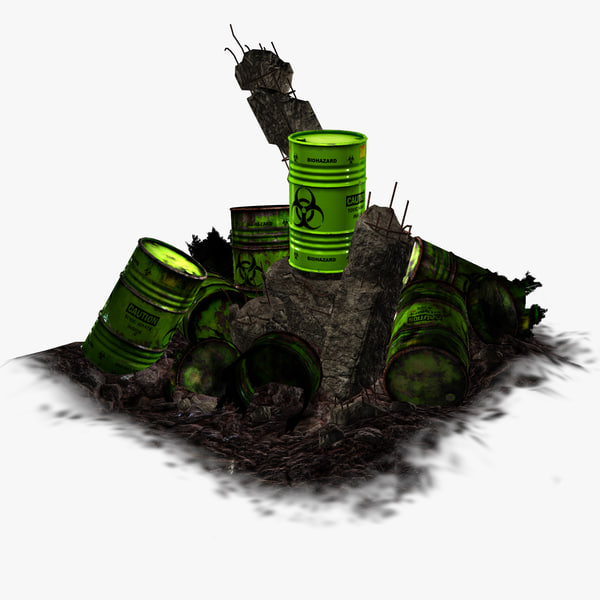 3d model barrel toxic waste -