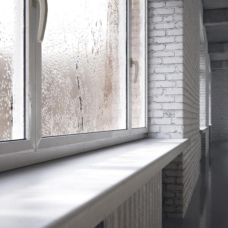 3d max loft interior space concrete