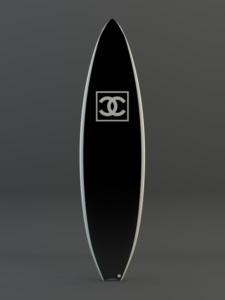 chanel surfboard 3d 3ds