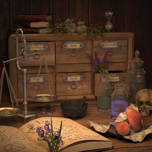 3d alchemist equipment