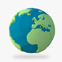 globe earth 3d max