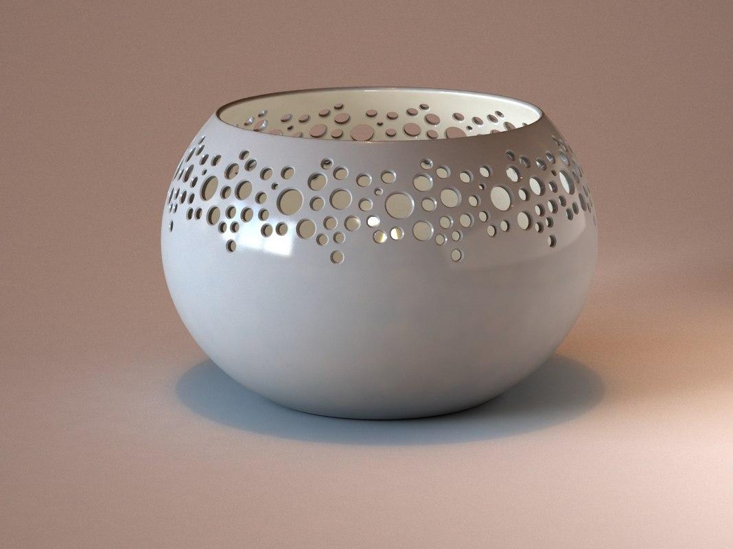 ceramic candle 3ds
