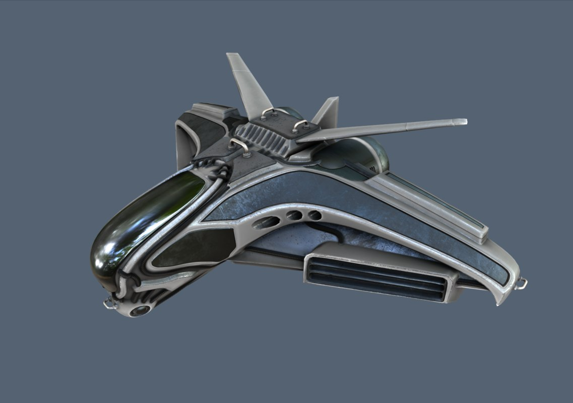 3d intergalactic spaceship fighter design