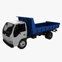 isuzu dump truck 3d model