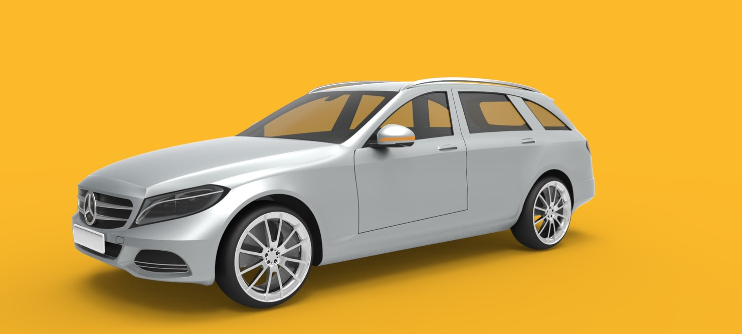 mercedes-benz c-class estate s205 3d model