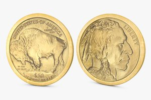 gold buffalo $50 3d 3ds