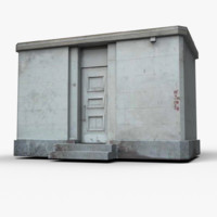 3d small building model