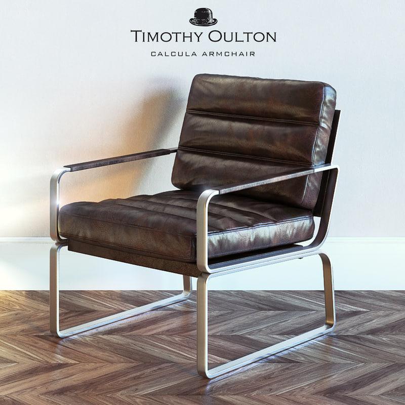 timothy oulton calcula armchair 3d max