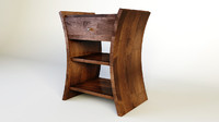 3d model wooden bedside table