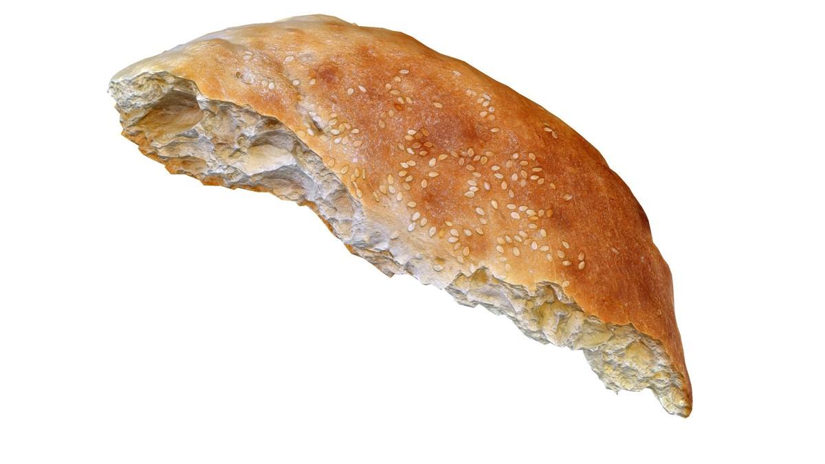 bread flatbread 3d model
