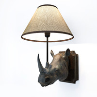 rhino wall lamp 3d model