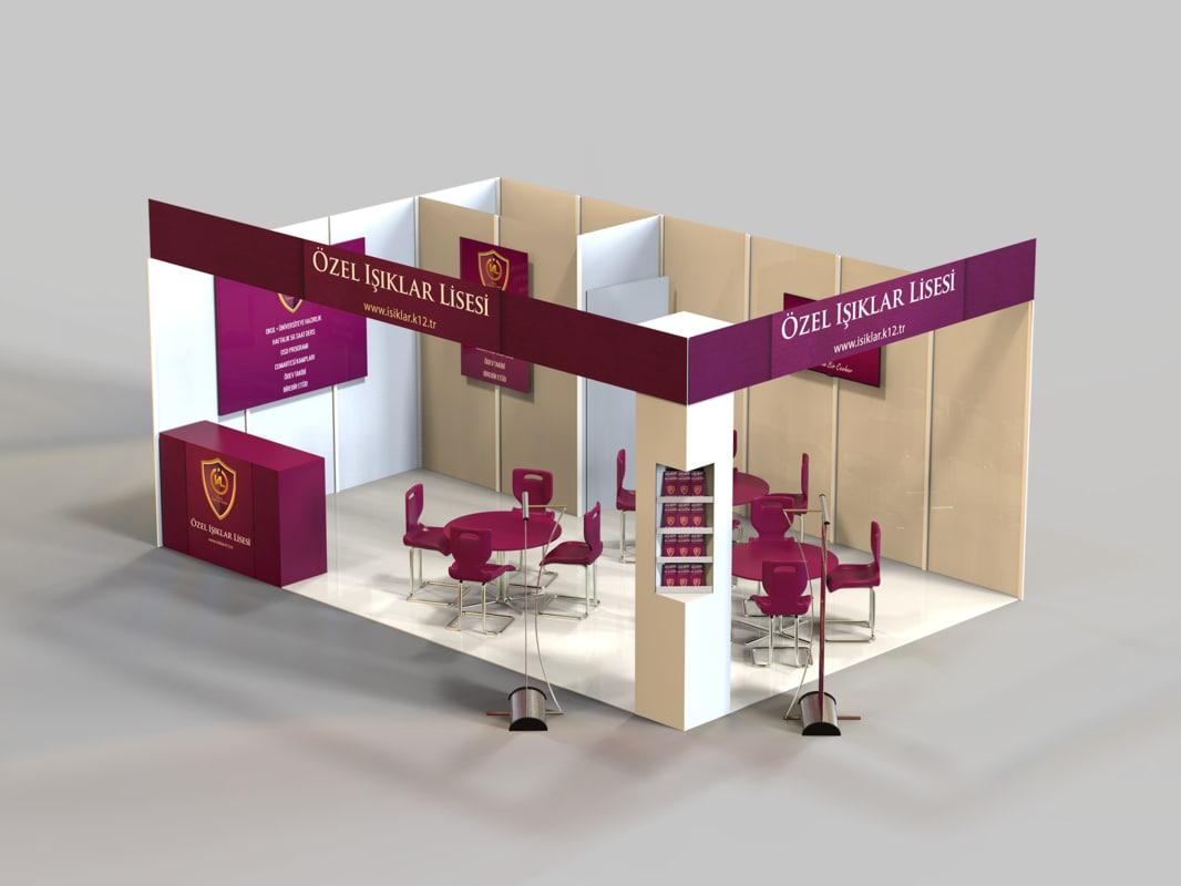 3d Exhibition Model : D exhibition stand model