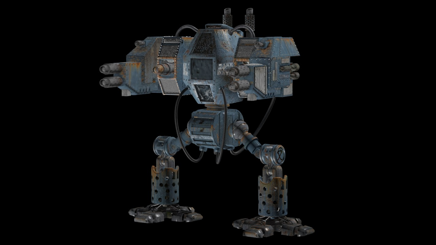 robot warrior 3d obj