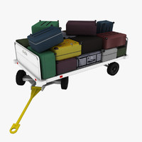 Baggage Cart Clyde 15F2900 Loaded 2