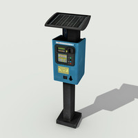 Parking Meter - Low Poly